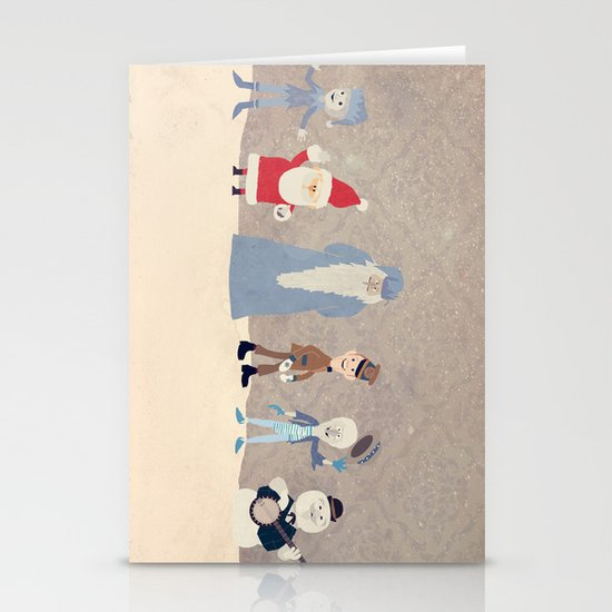 Claymation Lineup  Stationery Cards