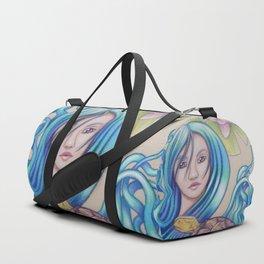 Blue Nova, Turtle Colored Pencil Drawing Duffle Bag