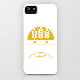 Eat Sleep Home Brewery Repeat Beer Brewing Ciders Fermentation Gift iPhone Case