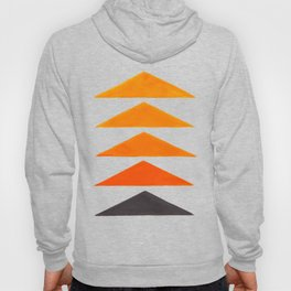 Vintage Scandinavian Orange Geometric Triangle Pattern Hoody