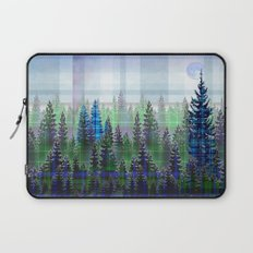 Nature Reflected Plaid Pine Forest Laptop Sleeve