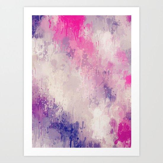 Garden Splatter Art Print