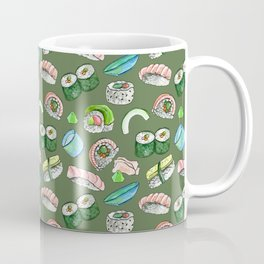 Sushi, Yum! in olive Coffee Mug