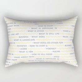 Yellow Photography Keywords Rectangular Pillow
