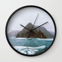 Island between Lanzarote and Isla Graciosa, Spain. Wall Clock