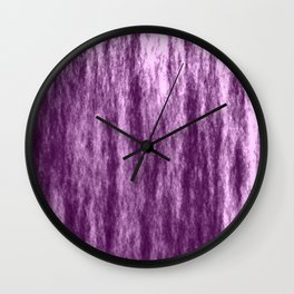 Bright texture of coated paper from violet flowing waves on a pastel fabric. Wall Clock