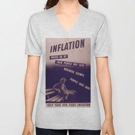 Vintage poster - Inflation Unisex V-Neck