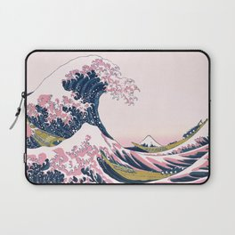 The Great Pink Wave off Kanagawa Laptop Sleeve