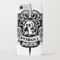 pitbull iPhone & iPod Cases featuring pitbull inside by LGT logout graphix design