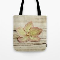 hydrangea Tote Bags featuring hydrangea by Bonnie Jakobsen-Martin