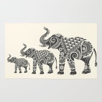 ornate elephant Area & Throw Rugs featuring Elephant by famenxt