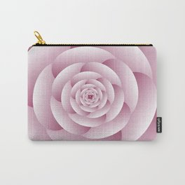 Pinky Spiral 3D Floral Art Carry-All Pouch