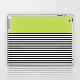 STRIPE COLORBLOCK {LIME} Laptop & iPad Skin