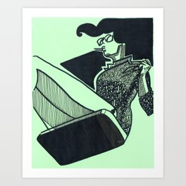 Persistent Swing Art Print