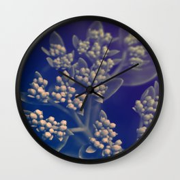 Floral Buds Wall Clock
