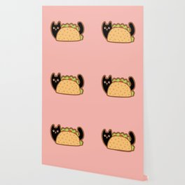 Taco Cat Black Wallpaper