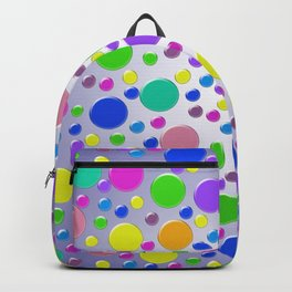 Confetti on purple background Backpack