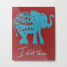 I got this blue elephant Metal Print