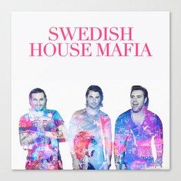 Swedish House Art Mafia Double Exposure Photo Art Canvas Print