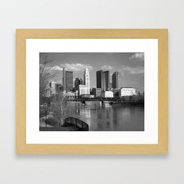 Columbus Ohio 3 - B&W Framed Art Print