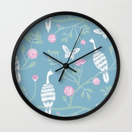 Spring Peacocks Wall Clock