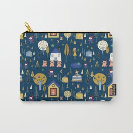 Wonderland Fairy Tale Navy Carry-All Pouch