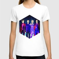 suits T-shirts featuring The Doctors: Galaxy Suits by Paris Noonan