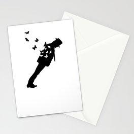 Anti-Gravity Lean Black Butterflies Stationery Cards