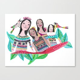 The southamerican girls Canvas Print