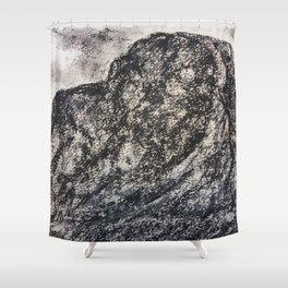 Grey Moutain by Gerlinde Streit Shower Curtain