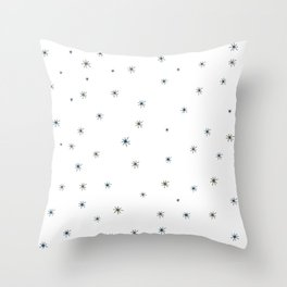 Franciscan Starburst, blue Throw Pillow