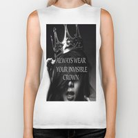crown Biker Tanks featuring Crown by I Love Decor