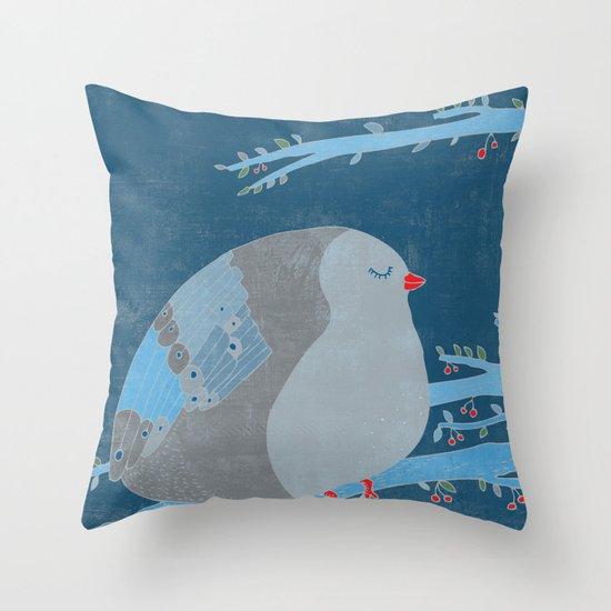 Bird of happiness Throw Pillow