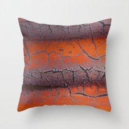 Orange rust Throw Pillow