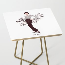 Fashion icon quotes Side Table