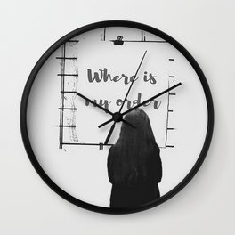 Survey Question Wall Clock
