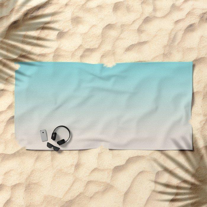 Ombre  digital illustration pastel colors 2 Beach Towel