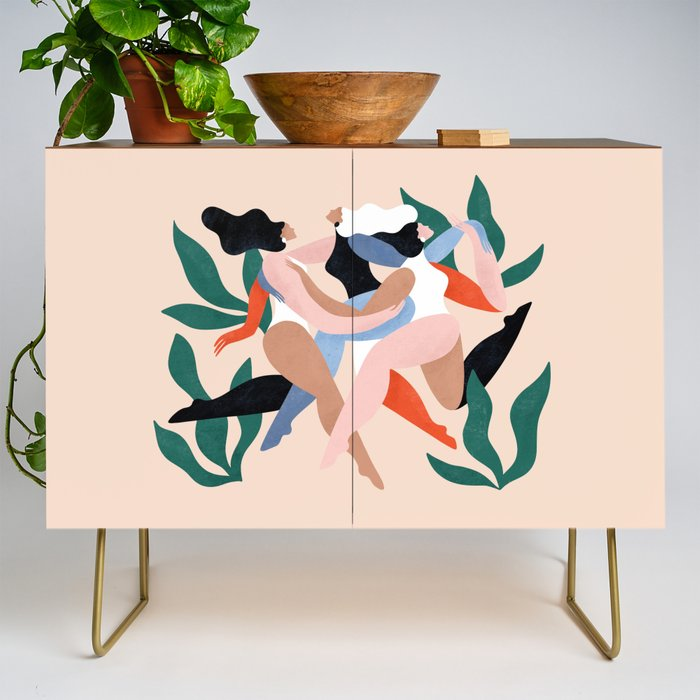 Take_time_to_dance_Credenza_by_Maggie_Stephenson__Gold__Walnut