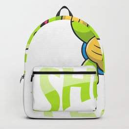 Cute Turtle Shell Green Zoo Sea Animal Lover Backpack