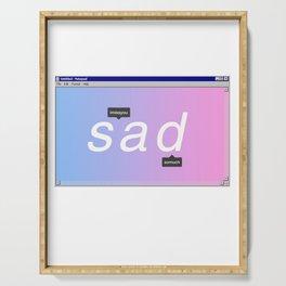 Sad Aesthetic Vaporwave Gift Notepad Window Emotional design Serving Tray