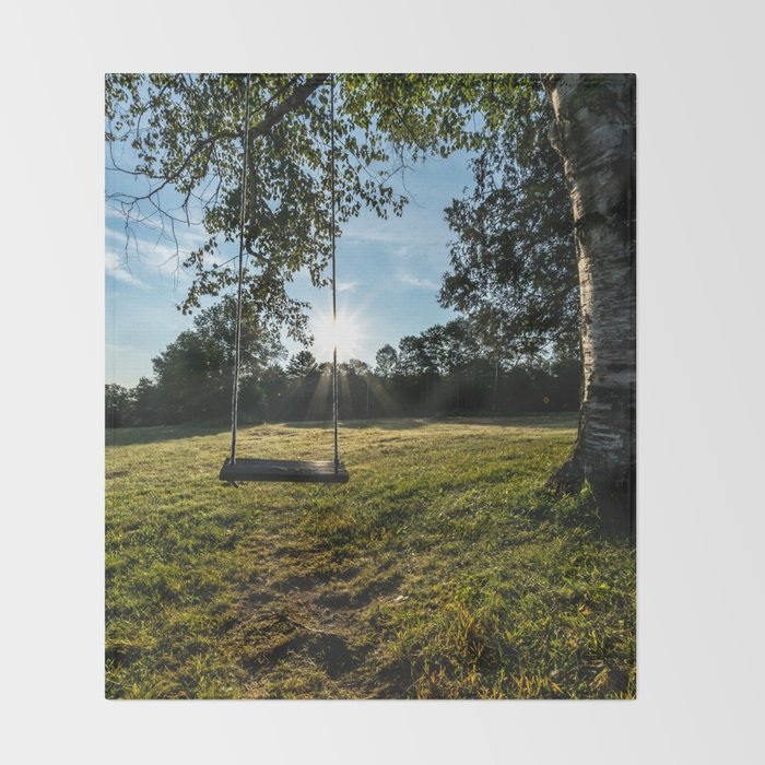 Country Comfort / Tree Swing Throw Blanket