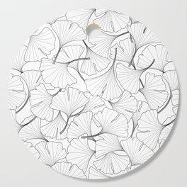 ginkgo leaves (white) Cutting Board
