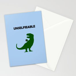 Unselfieable T-Rex Stationery Cards