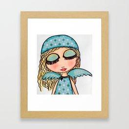 ageliatas de navidad Framed Art Print