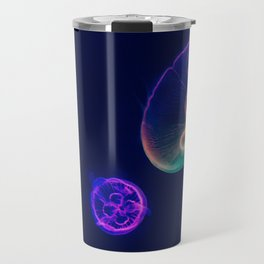 Bioluminescent Neon Jellyfish Travel Mug