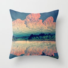 Admiring the Clouds in Kono Throw Pillow