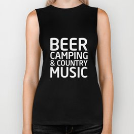 Beer, Camping, and Country Music Outdoors T-shirt Biker Tank