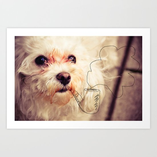 old dog Art Print
