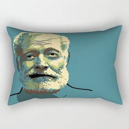 Ernest Hemingway Rectangular Pillow