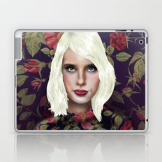 Young Girl and Flowers (Emma Roberts) Laptop & iPad Skin